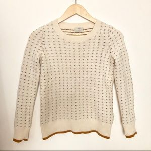 MADEWELL Wallace color-stitch dotted knit sweater